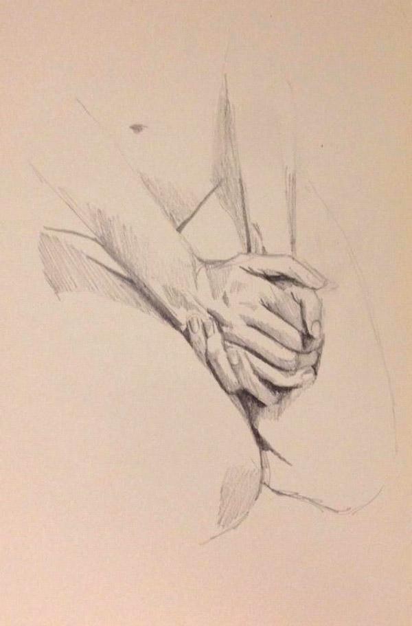 Handen schetsen, © Marieke de Stip