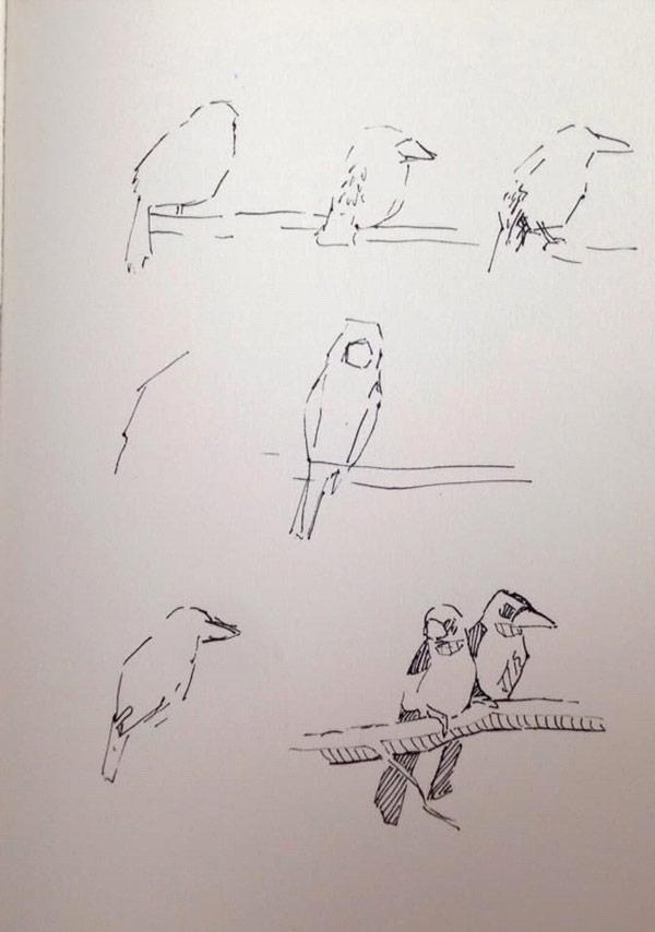 Snelle schetsen ©Marieke de Stip